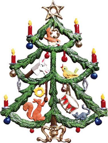 """WILHELM SCHWEIZER GERMAN ZINNFIGUREN Tree with Toys (2"""" x 2.75"""" High)"""