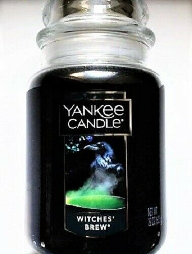 """Yankee Candle Halloween """"WITCHES BREW"""" ~ Patchouli ~ Large 22 oz.~ RARE ~ NEW"""