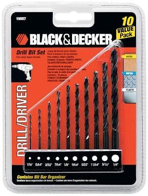 Black & Decker 15557 10-Piece Drill Bit Set