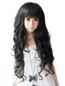 Long Black Curly Wig