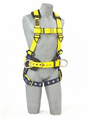 3m Dbi-sala 1102201 Construction Harness Back And Side D-rings Size Small