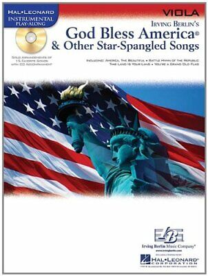 GOD BLESS AMERICA & OTHER STAR-SPANGLED SONGS PLAY-ALONG VIOLA MUSIC BOOK/CD-NEW