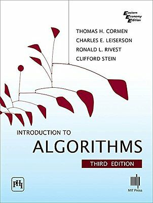 Introduction to Algorithms by Clifford Stein, Ronald L. Rivest, Thomas H. Cormen