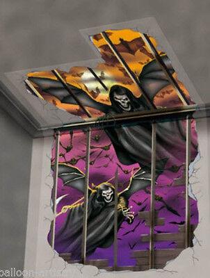 WINGED REAPER Scene Setter Halloween Party wall decoration kit bats scary spooky](Scary Halloween Scenery)