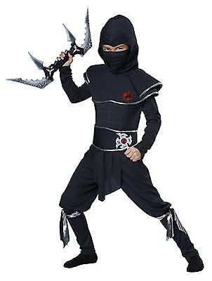 Childrens Ninja Warrior Karate Assassin Halloween Child Costume S-L 00473