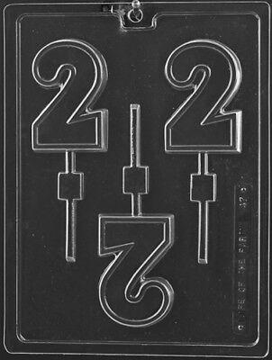 NUMBER 2 LOLLIPOP CHOCOLATE CANDY MOLD MOLDS DIY BIRTHDAY PARTY FAVORS (Numbers Chocolate Mold)