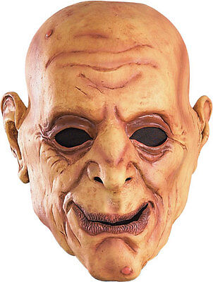 Latex Old Man Mask Creepy Scary Face Halloween Costume Wrinkled Skin Bald Head