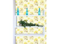 2 x Sanderson Lacecap Diowla Floral Wallpaper