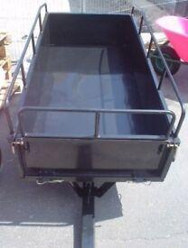 Large Garden Steel Trailer 325kg for sit on mower