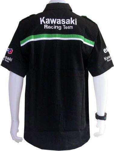 kawasaki pit shirt ebay. Black Bedroom Furniture Sets. Home Design Ideas