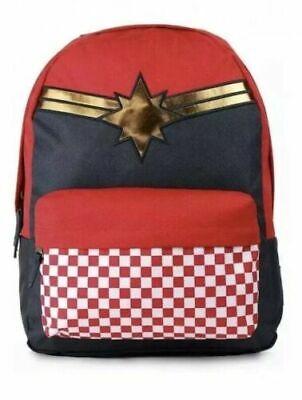 VANS CAPTAIN MARVEL Backpack Avengers Check Rucksack Bag Wonder Woman-BRAND NEW