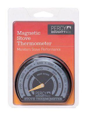 Stove Pipe Thermometer Magnetic Coal Log Wood burning Temperature