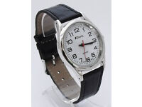 Ravel Men's Classic 3 Hand Silver Watch with Black Strap R0106.14.1