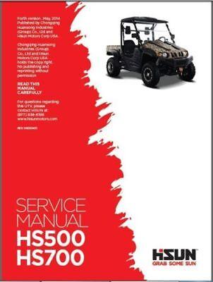 Hisun Hs500 Hs700 Service Owners Parts Cd Coleman Bennche Msu Qlink Cub Cadet