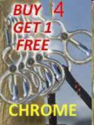 5 BLOCKER TIE RINGS   W/MAG-LOC    CHROME ()