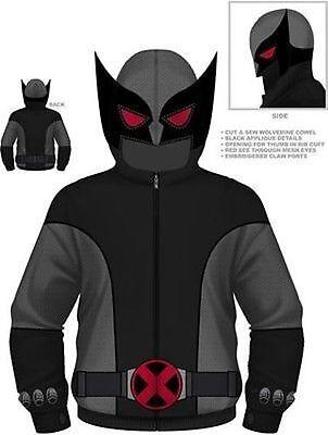 Authentic Marvel Comics Wolverine Gray Wolf X-Men Costume Hoodie S M L Xl 2Xl - Marvel Beast Costume