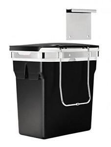 NEW simplehuman In-Cabinet Trash Can, Heavy-Duty Steel Frame, 10 L / 2.6 gallon, Black