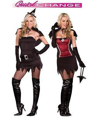 NEW Quick Change 2-in-1 Witching Hour to Vampire Power Costume Adult Women's - Quick Vampir Kostüm