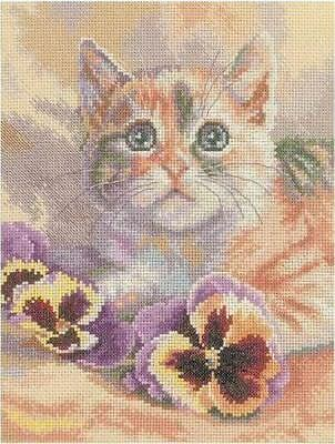 Rto Counted Cross Stitch Kit Cat Daydreaming New