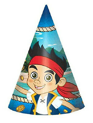 JAKE Neverland Pirates Birthday Party paper cone HATS supplies  8pc Izzy Cubby