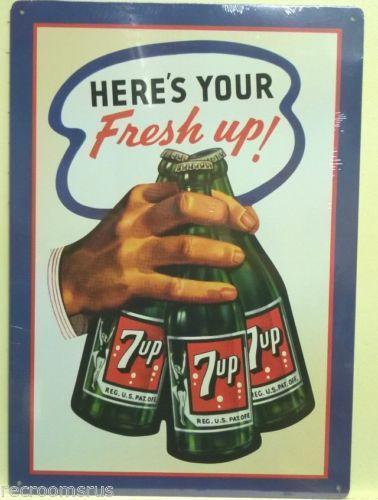 Vintage 7 Up Sign Ebay