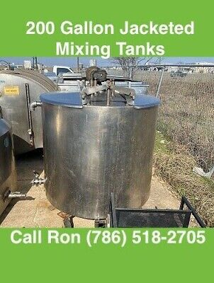 200 Gallon Stainless Steel Jacketed Mixing Tank