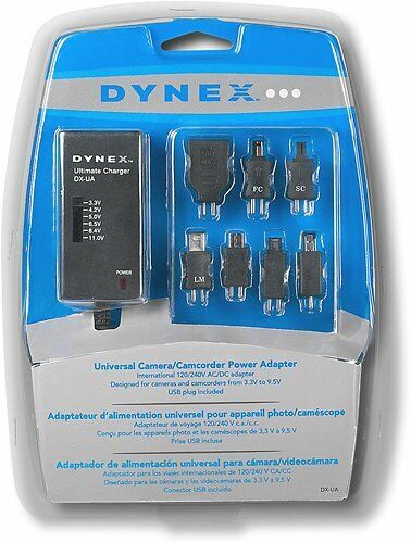 Dynex Universal Power Adapter AC Charger Cameras Camcorders DX-UA