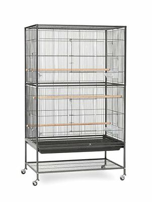 Prevue Pet Products Wrought Iron Flight Cage with Stand F040 Black Bird 31 0 1
