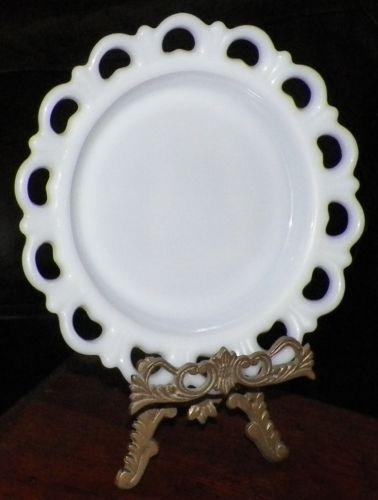 Anchor Hocking Milk Glass Plate Ebay