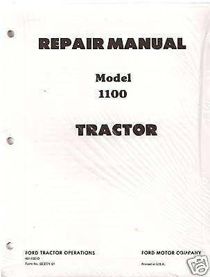 Ford 1100 Series Tractor Repair Manual With 1300150017001900 Supplements