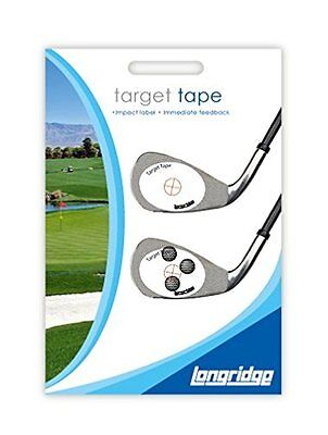 Longridge Target Tape Golf Club Shot Ball Impact Labels - 50 Stickers