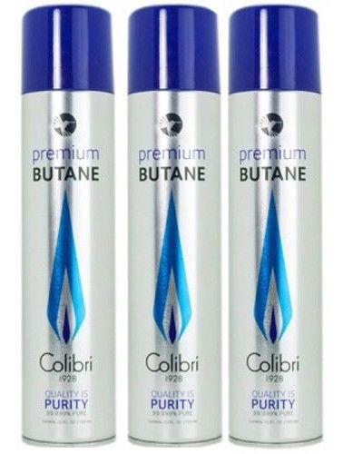 3 Pk Colibri Premium Lighter Butane Refill Fuel 50g 3.04 oz 90ml Canister 9103-3