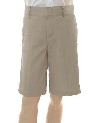 Khaki Tan Uniform Shorts 6 French Toast Boys Flat Front School Blend New