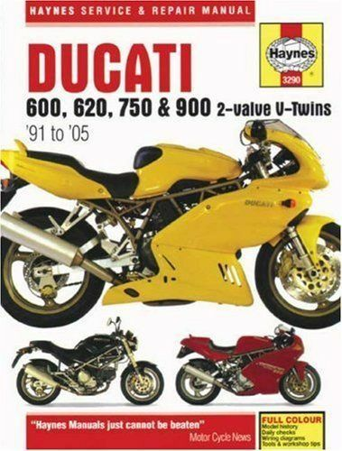Haynes Manual Ducati 600 750 900 1991-2005 620 2 Valve V Twins Workshop Manual