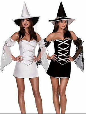 ALLOWEEN HORROR Fancy Dress Costume Outfit (White Witch Fancy Dress Kostüm)