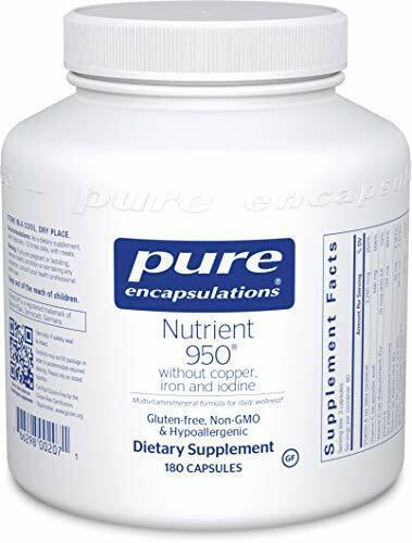 Pure Encapsulations  Nutrient 950 w/o Copper & Iron 180 Caps EXT 02.10.2022