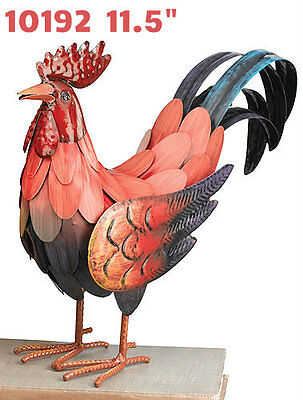 Garden Decor Bird Statuary - Red Rooster Decor SM - Regal Art & Gift 10192