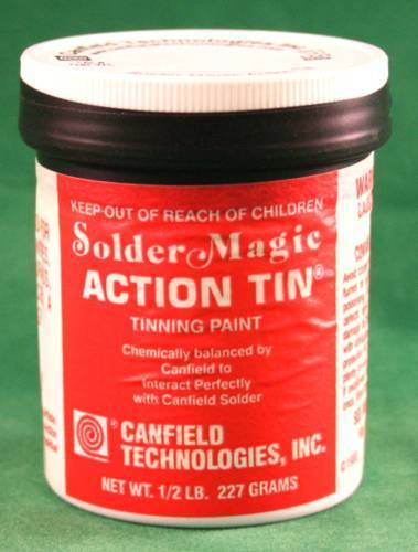 Canfield Solder Magic Action Tin for Stained Glass - Great for tinning metal