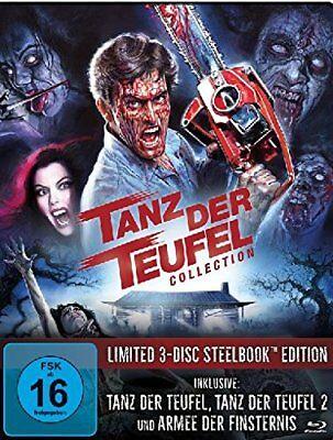 STEELBOOK Evil Dead Uncut TANZ DER TEUFEL 1 2 3 ARMEE DER FINSTERNIS 3 Blu-Ray