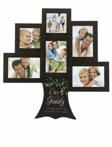 the malden 4379 60 is also known as the malden our family tree collage frame it has six openings that fit 2 by 3 inch or 4 by 6 inch photos