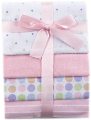 Baby Blankets 4 Pack Flannel Receiving Pink Soft Warm Cozy Cotton Girl Newborn