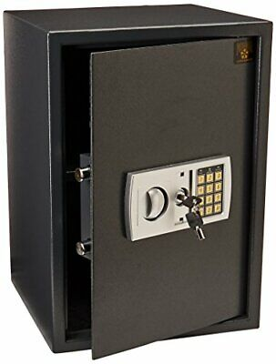 Gray Large Safety Electronic Lock Box Fireproof for Home and Office New
