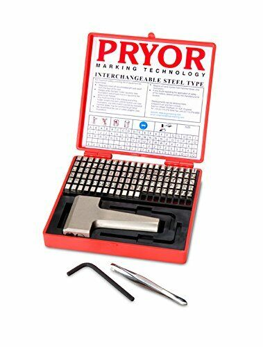 "Pryor TIFH030 Interchangeable Steel Type Fount Set with Hand Holder, 1/8"", 3.0mm"