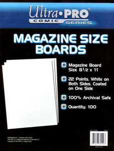 Ultra Pro REGULAR MAGAZINE ... BACKING BOARDS ... package of 100