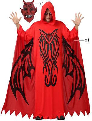 Teufelskostüm Dämon M/L Devil mit u. ohne Maske Teufel Faschingskostüm Halloween