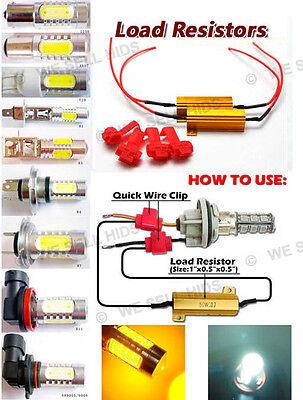 1156 1157 S25 LED Car Bulbs 50W 6 Ohm RESISTORS P21W 382 BA15s 3156 7440 audi
