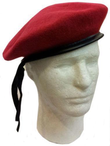 Kangaroo Wool Red Beret Hat- French Beret Apparel ...  |Red Beret
