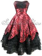Red and Black Gothic Dress