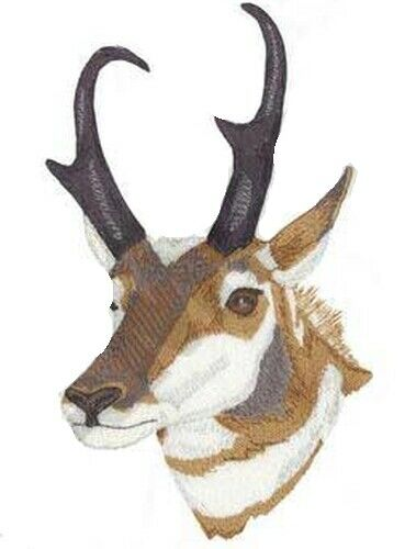 "Pronghorn Antelope Embroidered Patch 4.2"" x 7"""