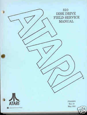 810 Field Service Manual Original Atari 800/XL/XE New